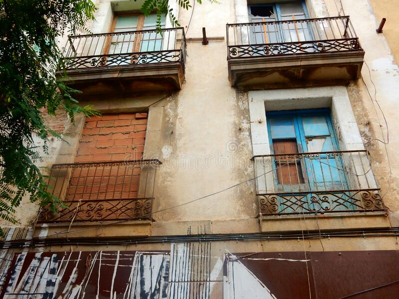 Barcelona Balconies royalty free stock images