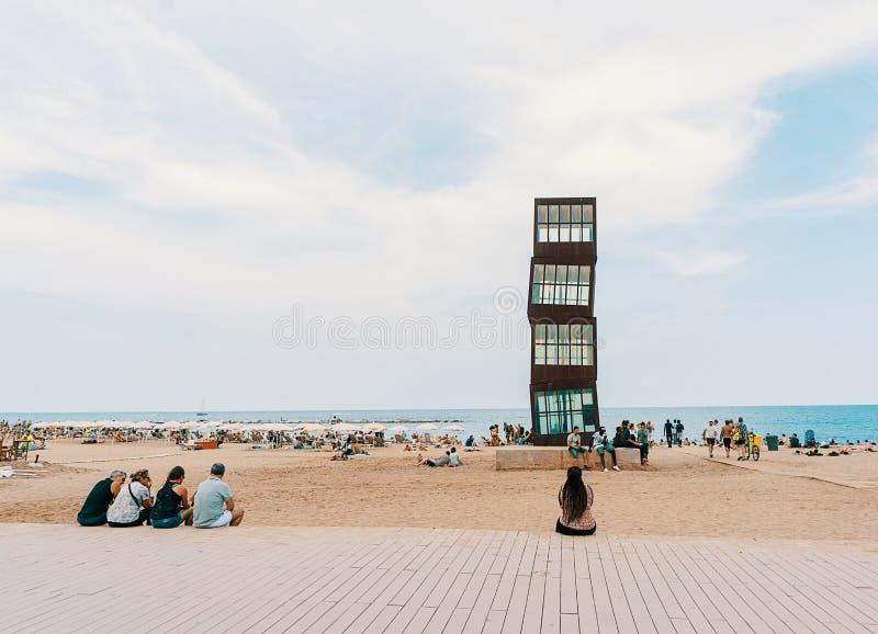 Barcelona Barceloneta Beach stock photography