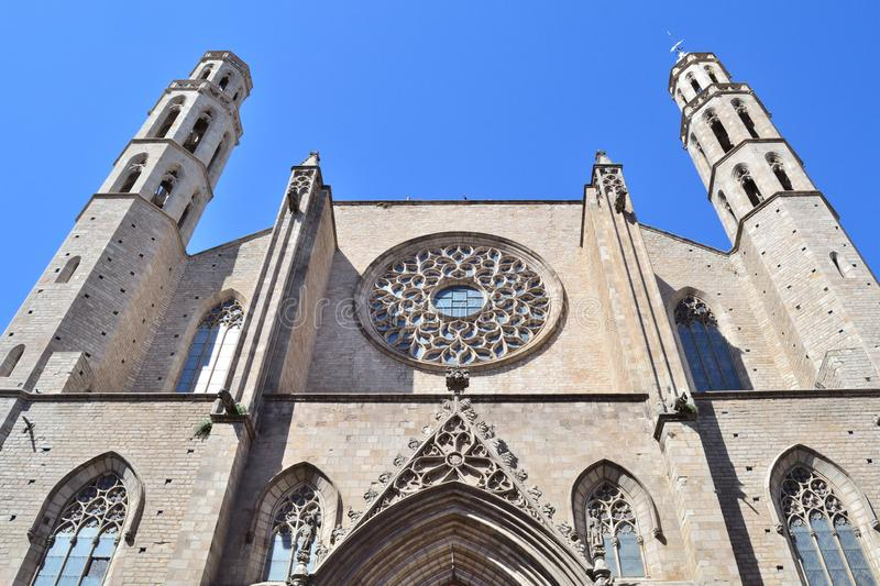 Barcelona Basilika von Santa Maria del Mar stockfotografie
