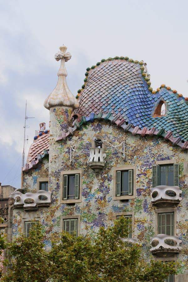 barcelona batllocasa arkivfoto