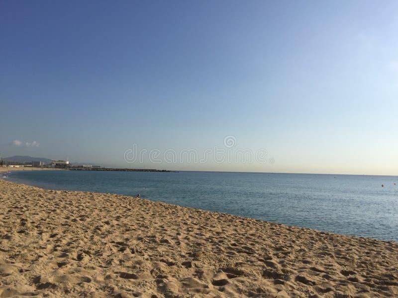 barcelona beach royalty free stock photos