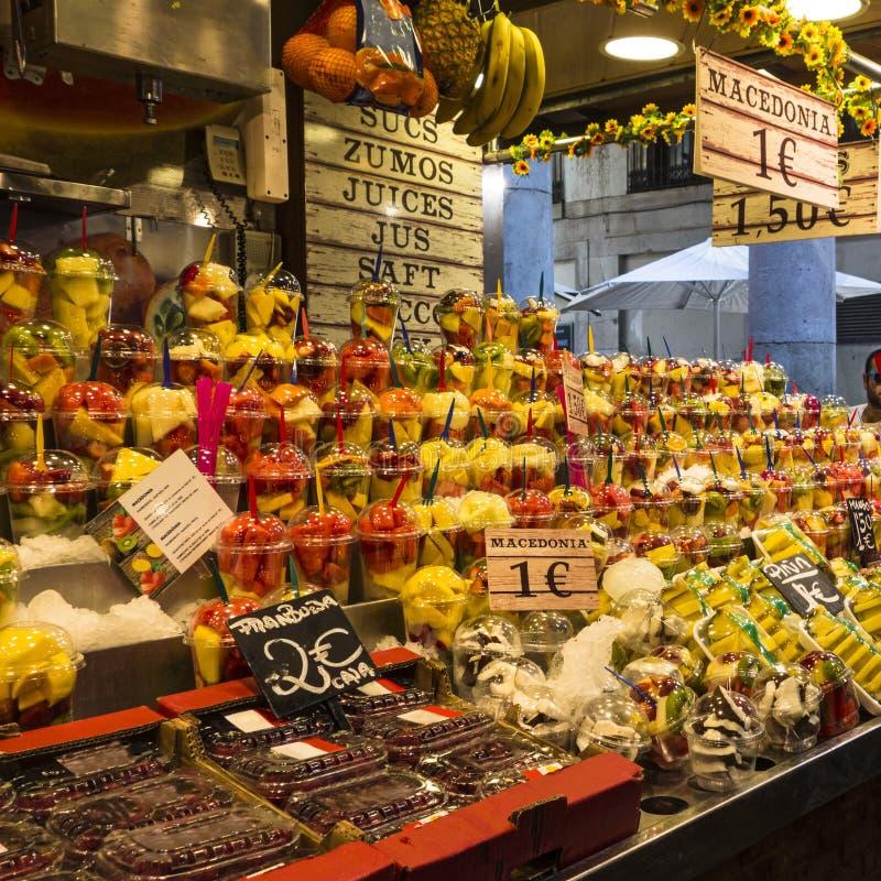 Barcelona Boqueria fruits royalty free stock image
