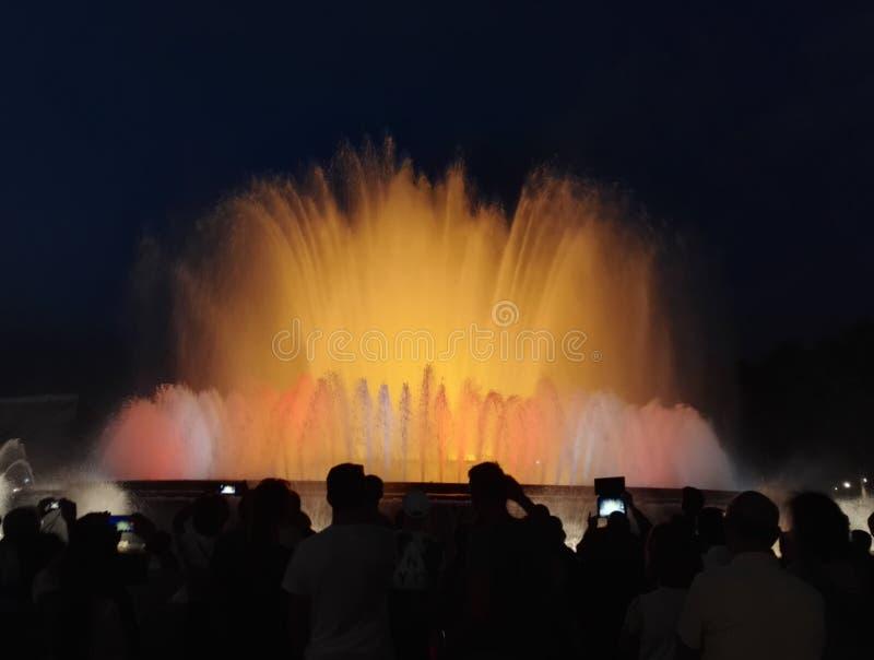 Barcelona-Brunnen stockbild