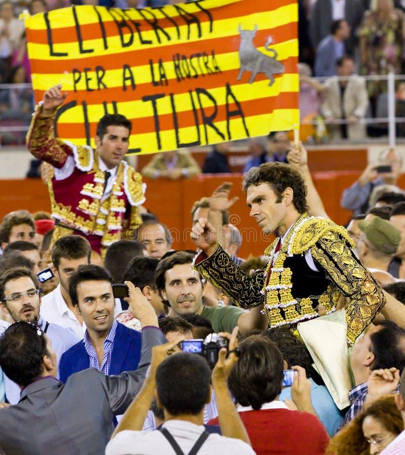 barcelona bullfight kopyto szewskie zdjęcia royalty free