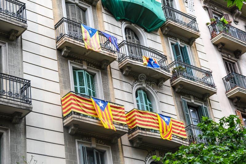 Barcelona byggnader royaltyfri foto