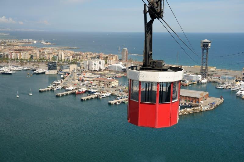 barcelona cablecar Spain zdjęcie royalty free