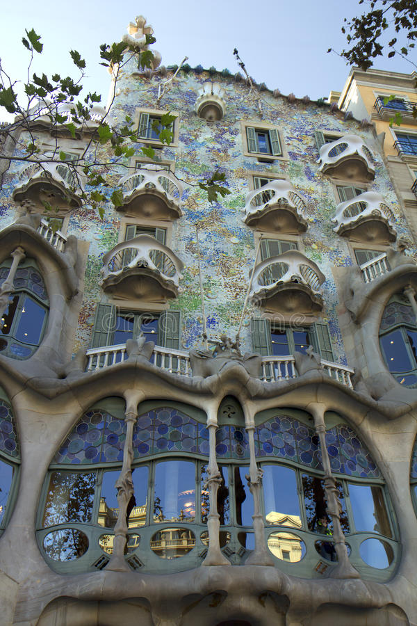 Barcelona. The Casa Batllo. royalty free stock image