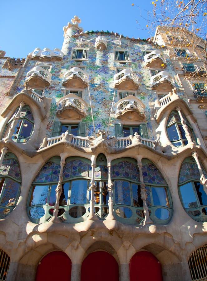 Barcelona CasaBatllo fasad av Gaudi royaltyfri bild