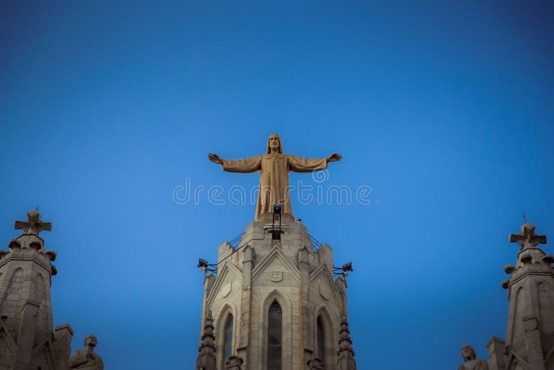 Barcelona, Catalonia, Espanha, o 2 de outubro de 2016 Jesus Christus St imagens de stock royalty free