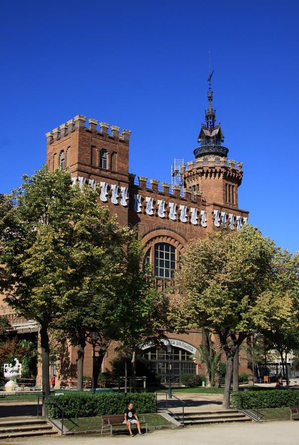 Castel dels Tres Dragons in Parc de la Ciutadella. Barcelona, Catalonia, Spain. stock photos