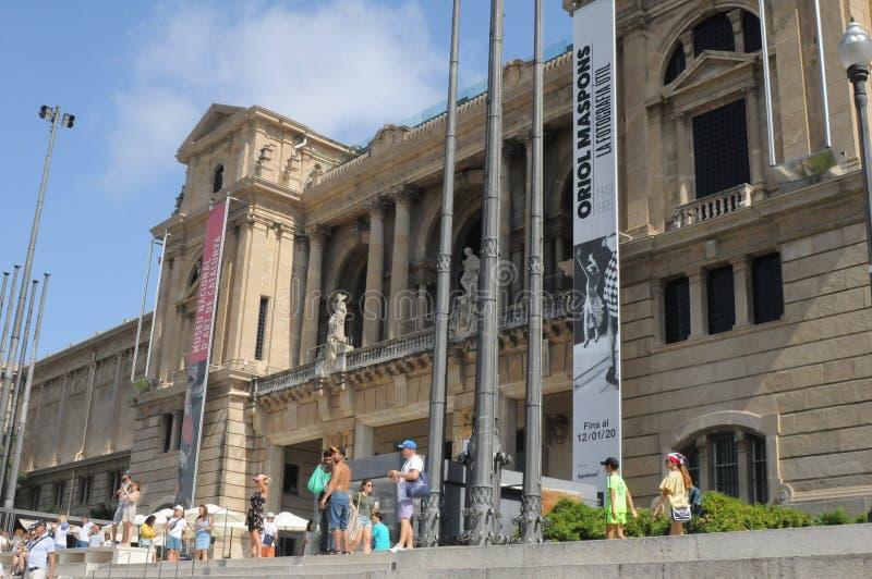 MUSEU NACIONAL D`ART DE CATALUNYA BUILDING stock photo