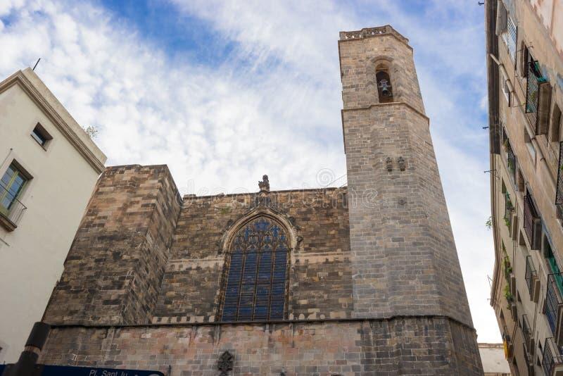 Barcelona: Catedral gótica de Santa Eulalia en Barri Gotic foto de archivo libre de regalías