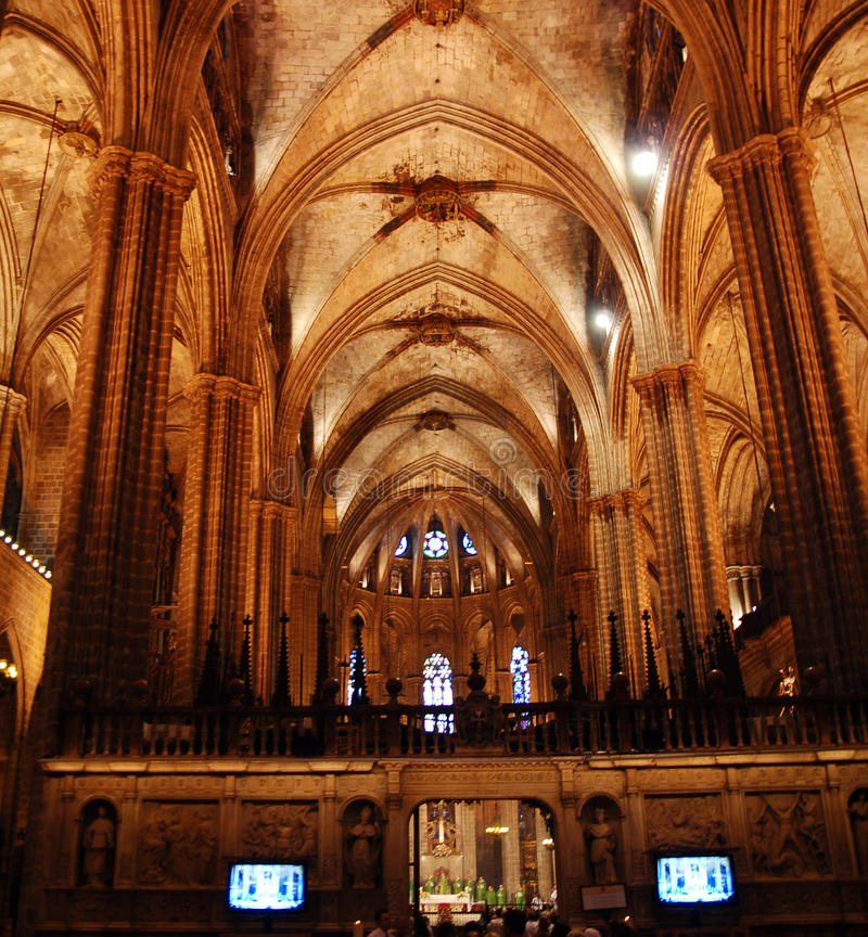 Download Barcelona Cathedral stock image. Image of nobody, indoors - 14968811