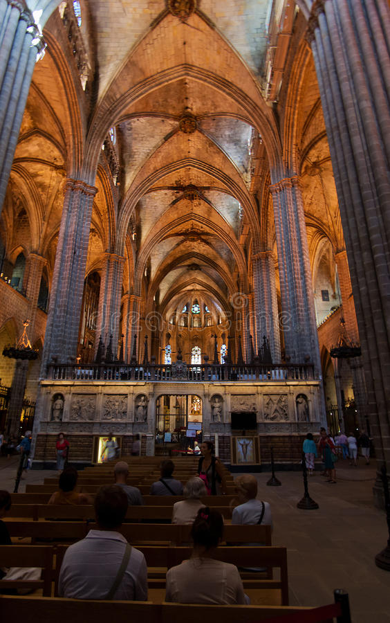 Barcelona Cathedral Church Editorial Stock Image