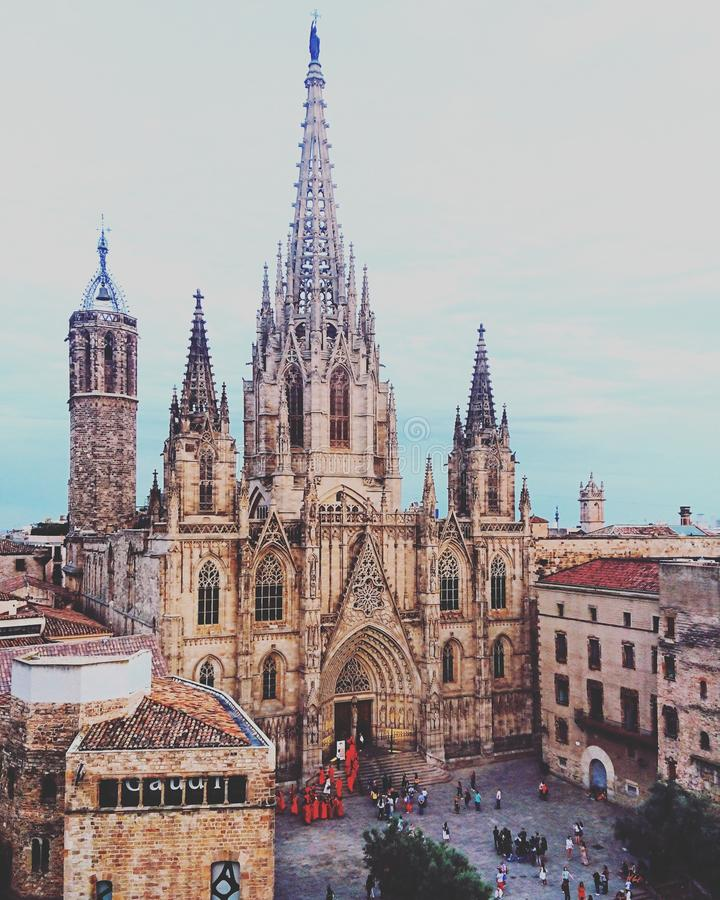 Barcelona Cathedral royalty free stock photo