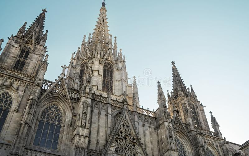 Barcelona Cathedral, Saint Eulalia Exterior Details royalty free stock image
