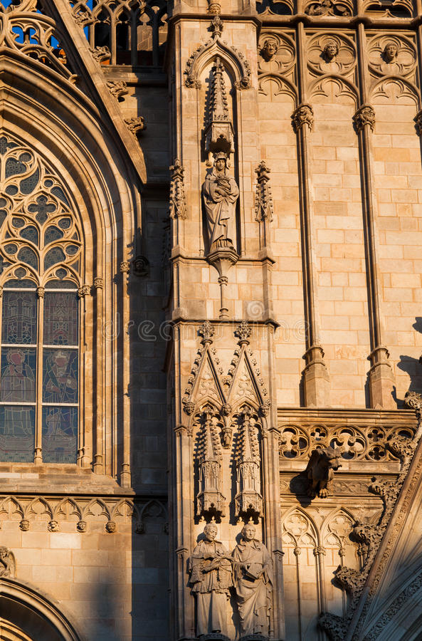 Barcelona Cathedral Spain Stock Images