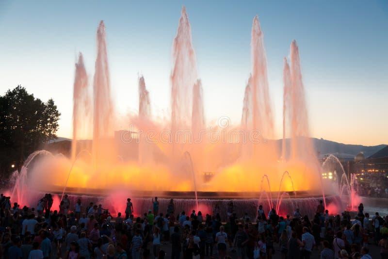 barcelona chrzcielnicy fontanny magii magica obrazy royalty free