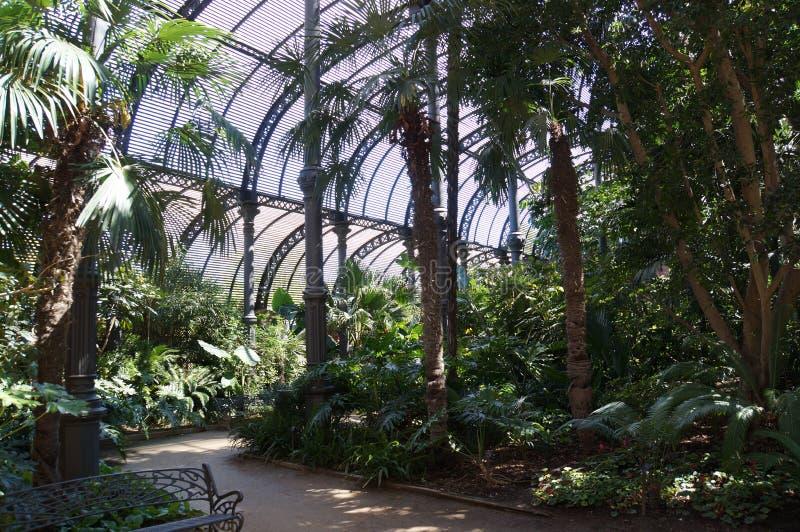 Barcelona city garden view stock images
