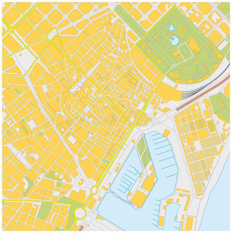 Barcelona city map stock illustration Illustration of barcelona