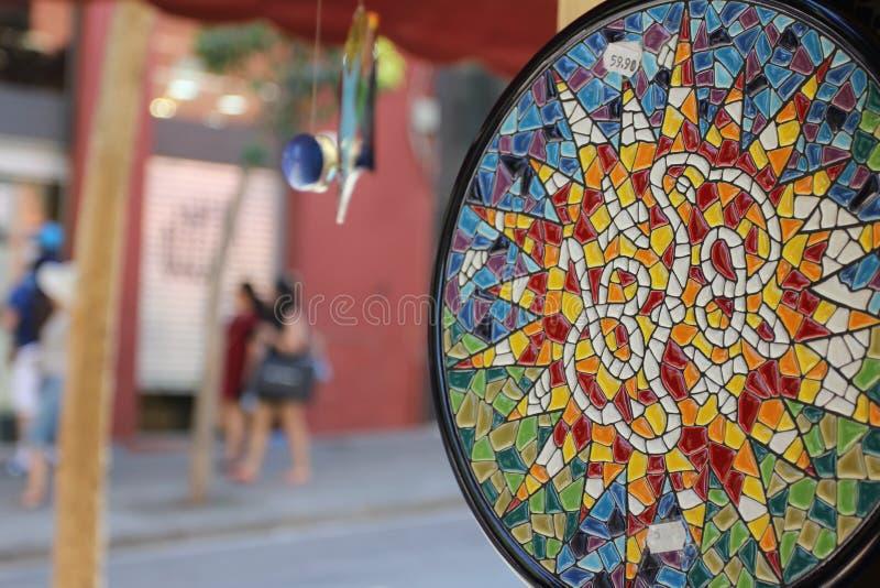 The Barcelona city sightseeings, Spain. souvenir shop royalty free stock photos