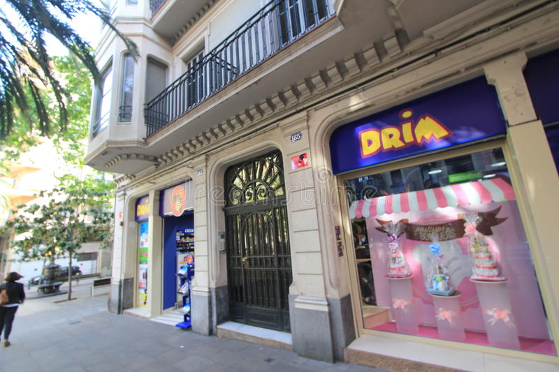 Barcelona city street view editorial stock image. Image of ...