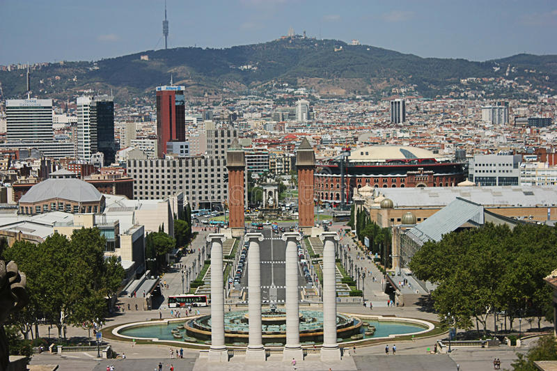 Download Barcelona City View From National Palace Editorial Stock Photo - Image: 26292603