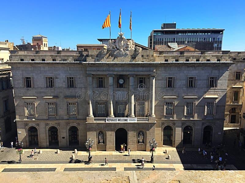 Barcelona cityhall royalty free stock photo