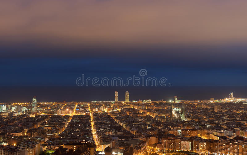 Barcelona cityscape stock photo