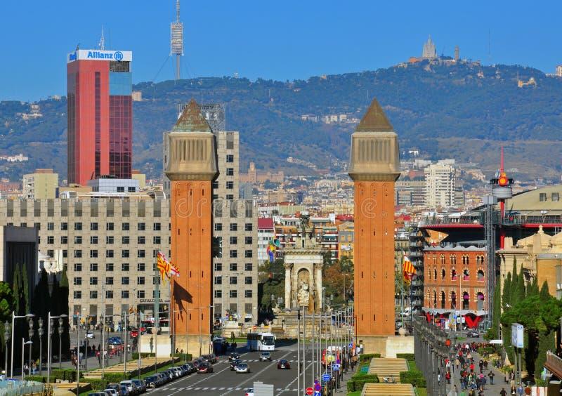 Download Barcelona Cityscape. The Spanish Square Editorial Image - Image: 36653920