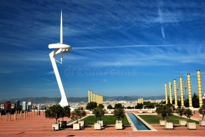 Barcelona, ciudad olímpica fotos de archivo