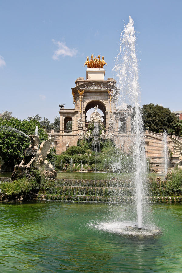 BARCELONA. Ciutadella Park stock photo