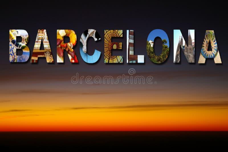 Barcelona collagehimmel royaltyfria bilder