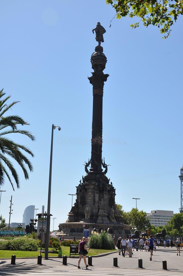 Barcelona Columbus royalty-vrije stock foto's