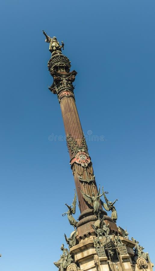 Barcelona, Columbus-standbeeld royalty-vrije stock afbeelding