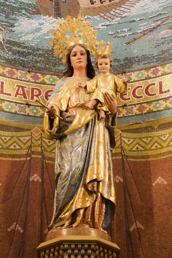 barcelona cor de helgedom jesus mary sagrad royaltyfri bild