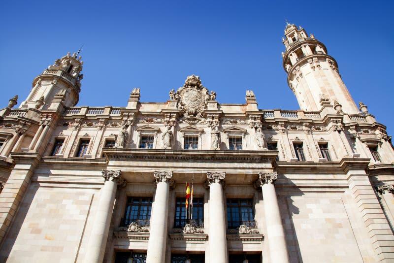 Barcelona Correos post mail building stock image