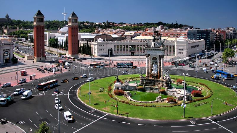 Barcelona: D'Espanya de Plaça imágenes de archivo libres de regalías