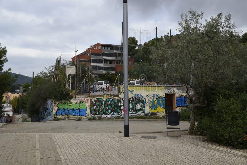 Barcelona In de voorsteden stock fotografie