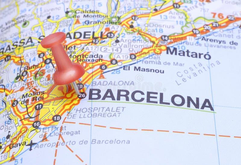 barcelona destinationsöversikt spain royaltyfria bilder