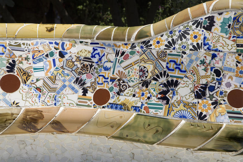 Download Barcelona - Detail From Guell Park From Gaudi Stock Photo - Image: 9705890