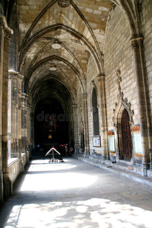 barcelona domkyrka spain arkivbild