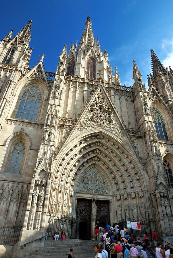 Barcelona domkyrka, Spanien royaltyfri bild