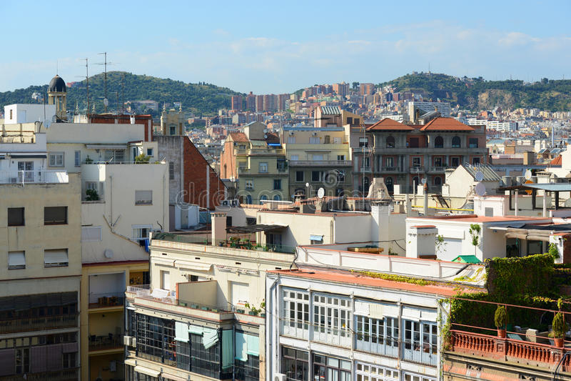 Barcelona Eixample District skyline, Spain stock photo