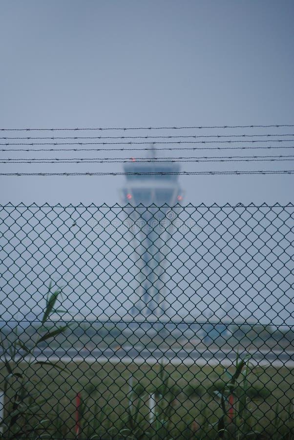 Barcelona El Prat lotniska wieża kontrolna obraz royalty free