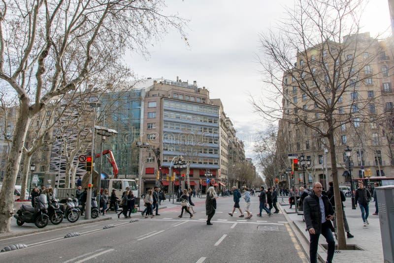 BARCELONA ESPAÑA - 19 DE MARZO DE 2018: Barcelona, España Buil famoso foto de archivo