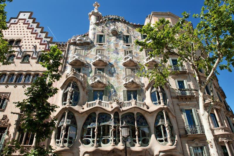Barcelona, España, Europa - la casa Batllo diseñó por Antoni Gaudi fotografía de archivo libre de regalías