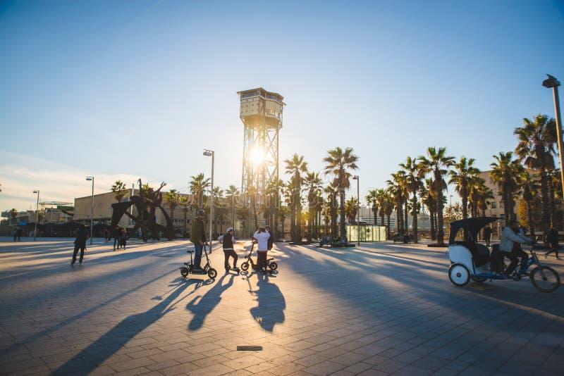 Barcelona, Espanha - 24 11 2018: Dia bonito no parque de Ciutadella foto de stock