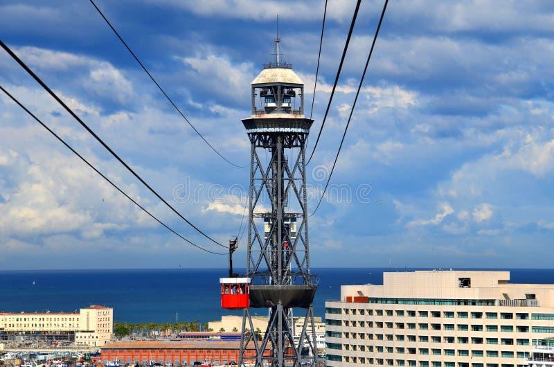 BARCELONA, ESPANHA: Vista panorâmica do porto de Barcelona fotografia de stock royalty free