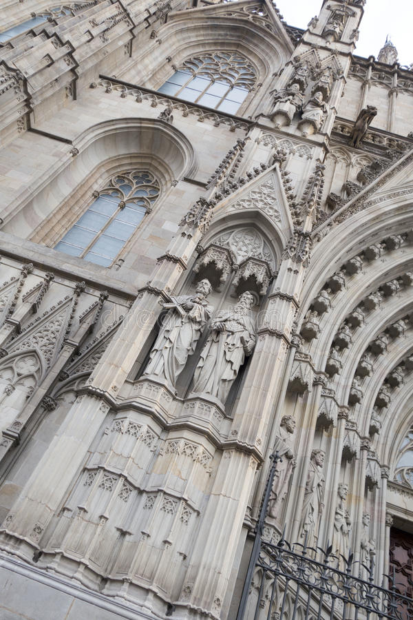 Barcelona Exterior - Cathedral stock images